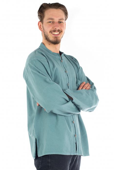Camasa lejera cu maneca lunga - Albastru deschis [2]