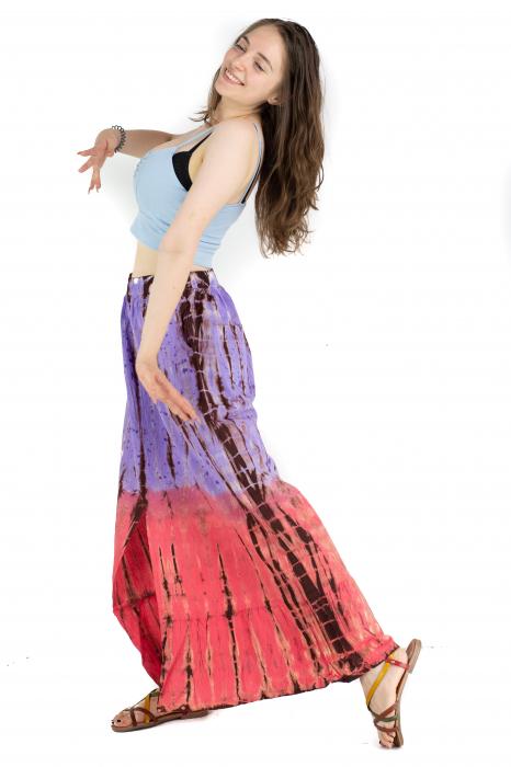 Fusta cu print Tie Dye - Mov [5]