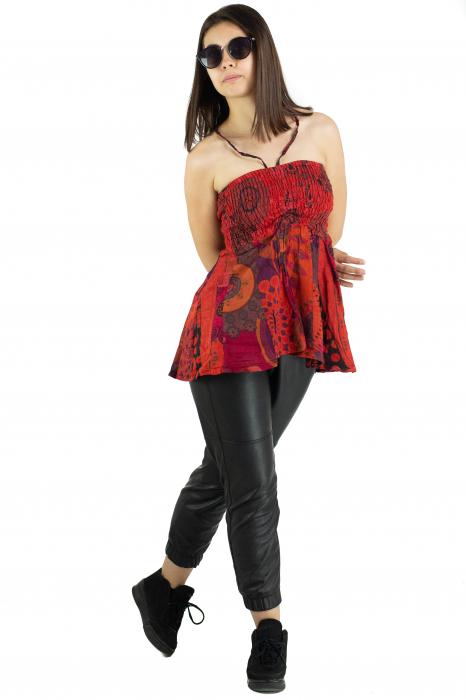 Top dama colorat RFG-517 - Rosu [3]