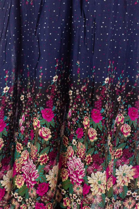 Fusta lunga florala cu catarama 2