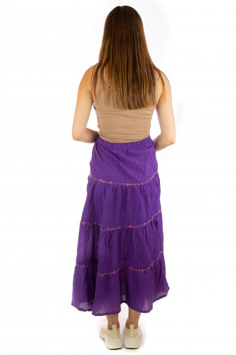Fusta maxi bumbac 100% - violet 5