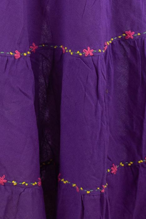 Fusta maxi bumbac 100% - violet 1