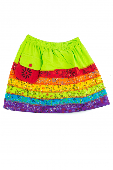Fusta rainbow pentru copii - Banda verde [0]