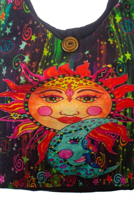 Geanta de umar din bumbac - Colored Sun 1