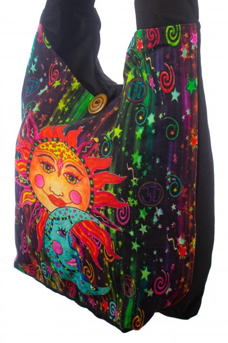 Geanta de umar din bumbac - Colored Sun 2