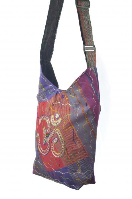 Geanta de umar multicolor - OM - Violet 1
