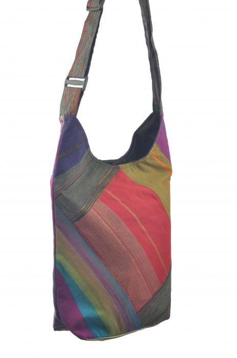 Geanta de umar multicolor - OM - Violet 3