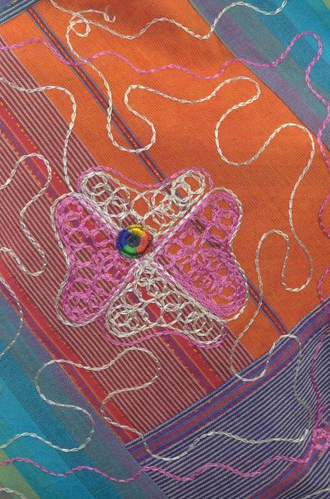 Geanta de umar multicolor - Pink Flower 1