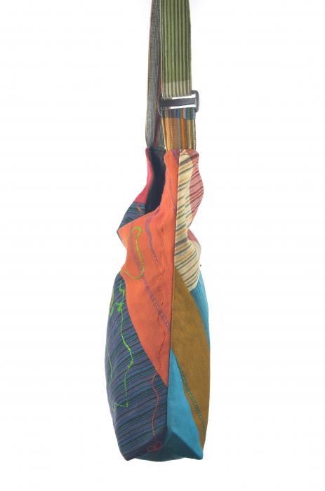Geanta de umar multicolor - Floare - Orange 3