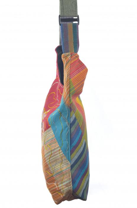 Geanta de umar multicolor - OM - Color Blocks 2