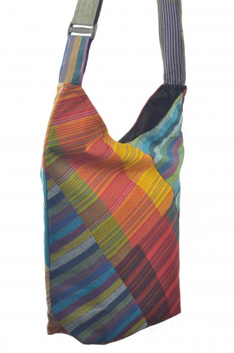 Geanta de umar multicolor - OM - Color Blocks 3