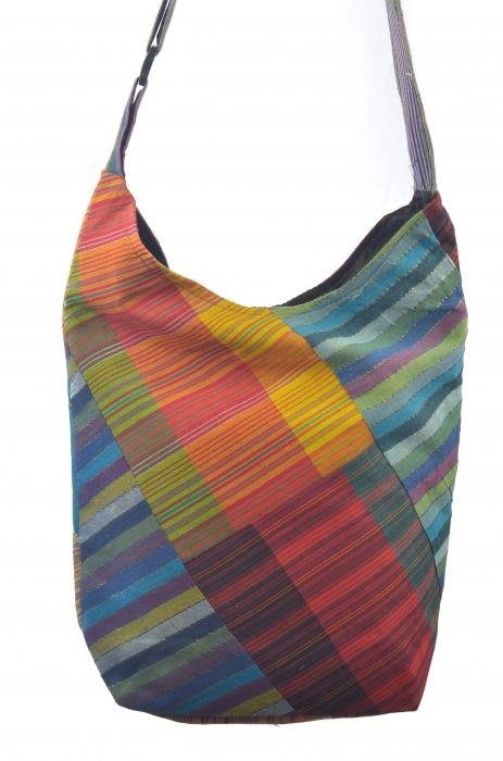 Geanta de umar multicolor - OM - Color Blocks 4