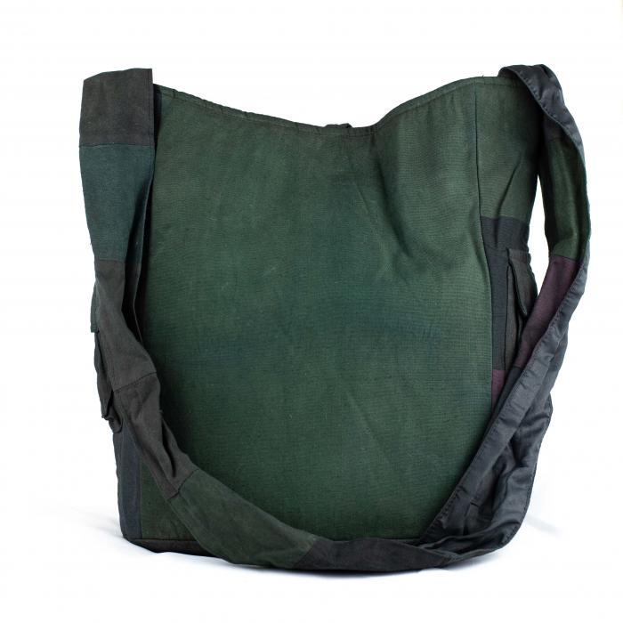 Geanta din bumbac - Verde inchis 2 2