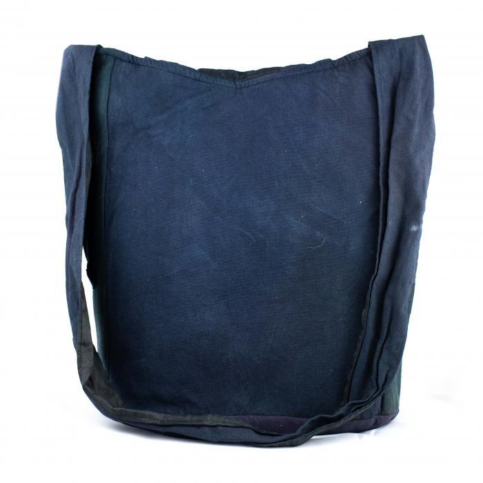 Geanta din bumbac - Albastru cu negru 2 3