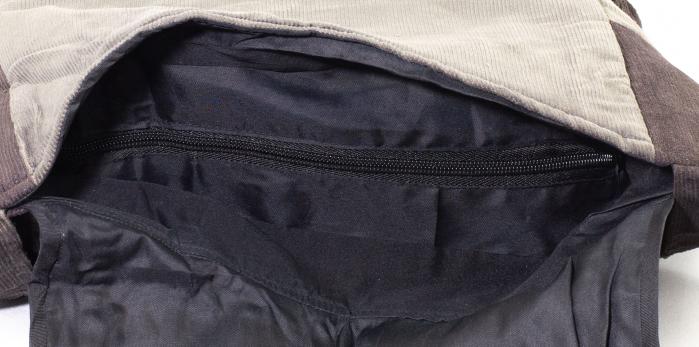 Geanta din bumbac - Mov cu negru 3