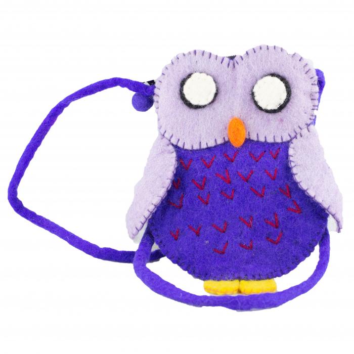 Gentuta de umar din feltru - Owl 0