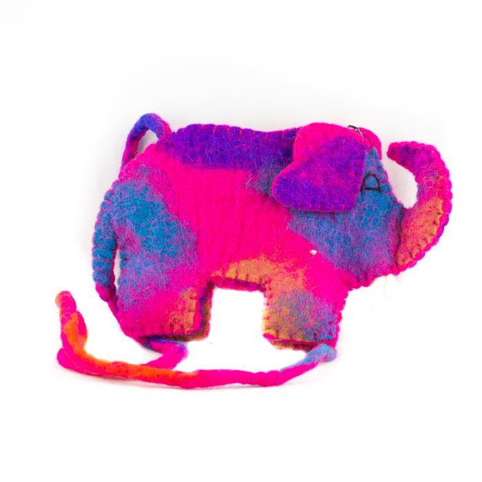 Gentuta de umar din feltru - Elefant 0