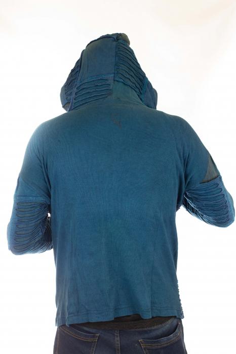Hanorac albastru razor cut 9
