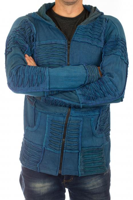 Hanorac albastru razor cut 3