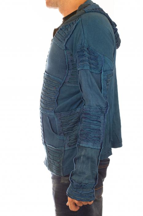 Hanorac albastru razor cut 5
