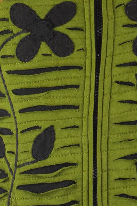 Hanorac Verde razor cut 2