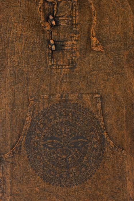 Hanorac cu print - Hidden Mandala - Maro [2]