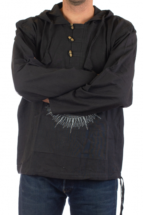 Hanorac cu print - Buddha - Negru [1]