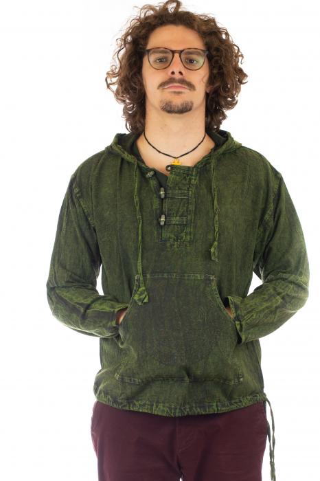 Hanorac cu print - Hidden Mandala - Verde [0]