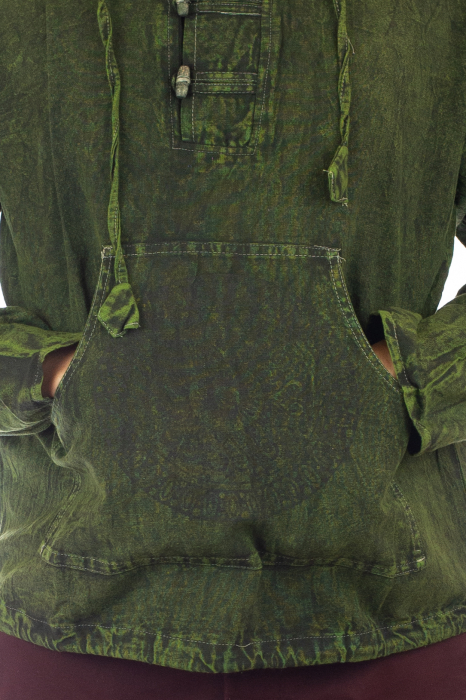 Hanorac cu print - Hidden Mandala - Verde [1]