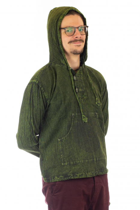 Hanorac cu print - Hidden Mandala - Verde [3]