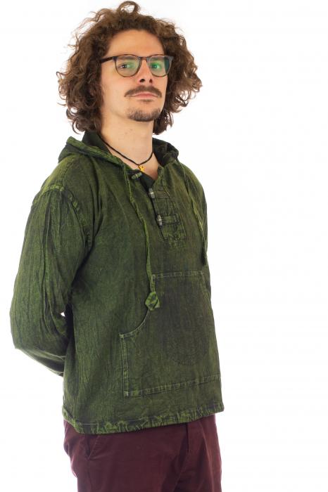 Hanorac cu print - Hidden Mandala - Verde [2]