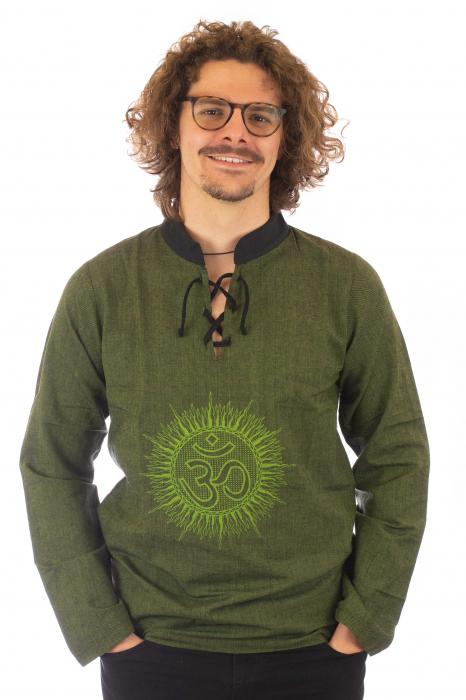Hanorac cu print - OM - Verde SHST-O2 [0]
