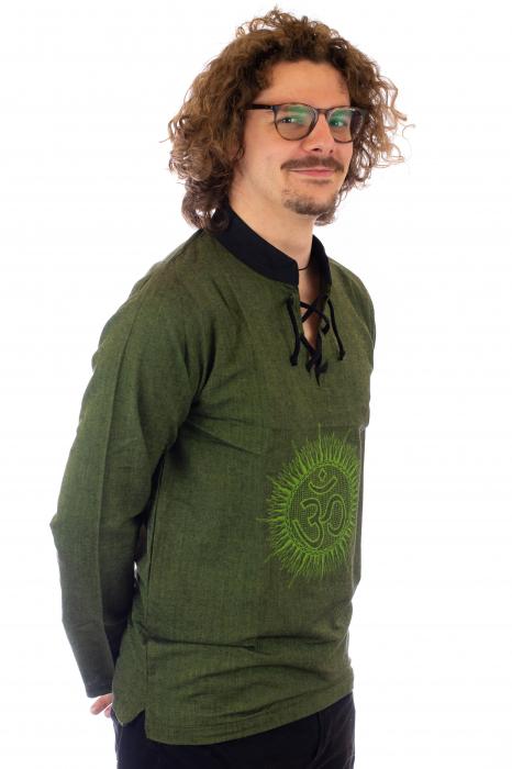 Hanorac cu print - OM - Verde SHST-O2 [1]