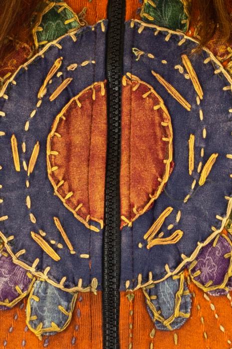 Hanorac din bumbac Flowers - Portocaliu 3