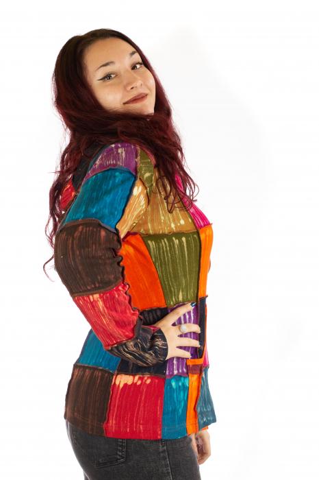 Hanorac din bumbac multicolor 1
