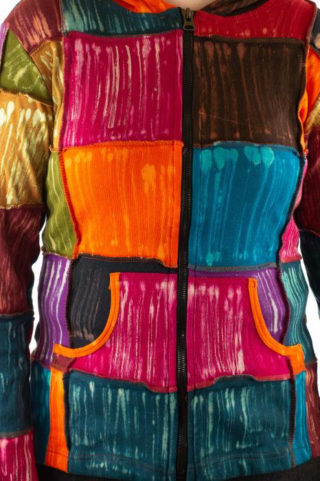 Hanorac din bumbac multicolor 3