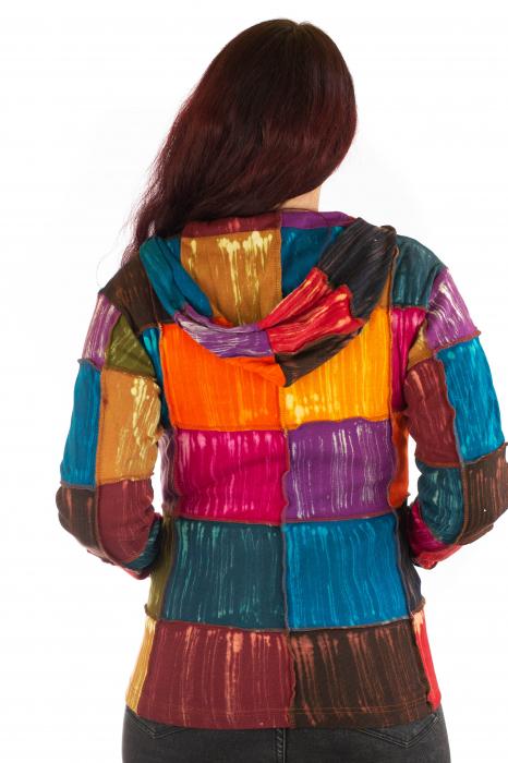 Hanorac din bumbac multicolor 2