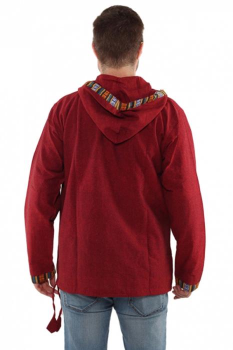 Hanorac ethnic din bumbac subtire - RED 2