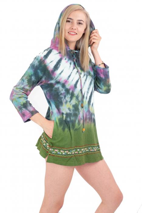 Hanorac lejer verde - Tie-Dye [2]