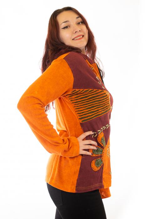 Hanorac portocaliu razor cut - Floare 1