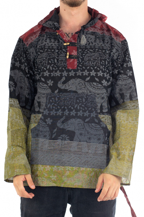 Hanorac lejer - Namaste Elephant - Multicolor [0]