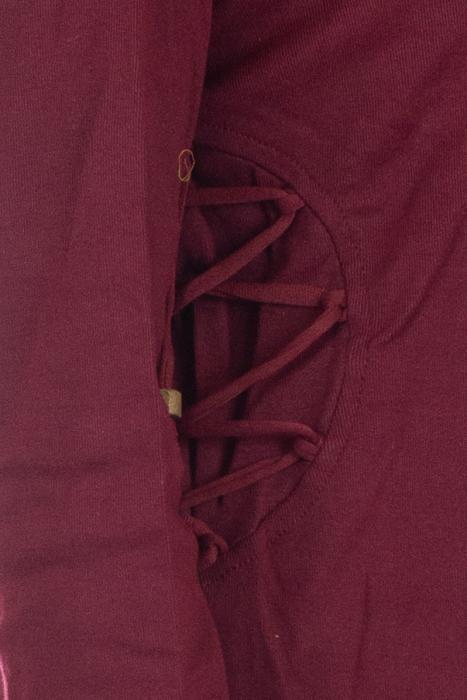 Hanorac unisex din bumbac cu maneca lunga - Bordo 3