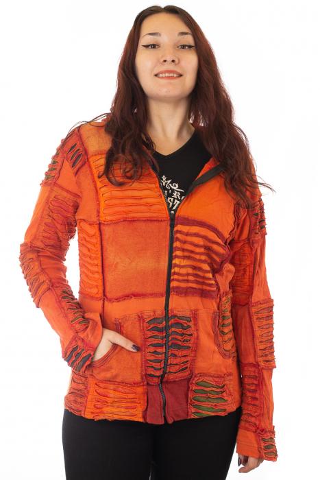 Hanorac portocaliu inchis razor cut 2