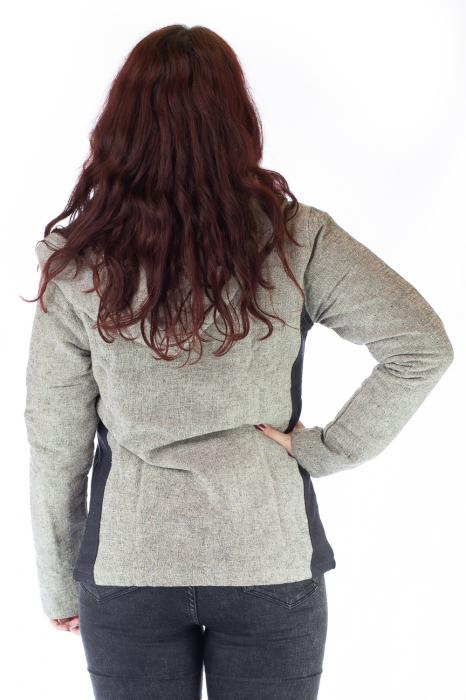 Jacheta din bumbac - Gri Negru 2
