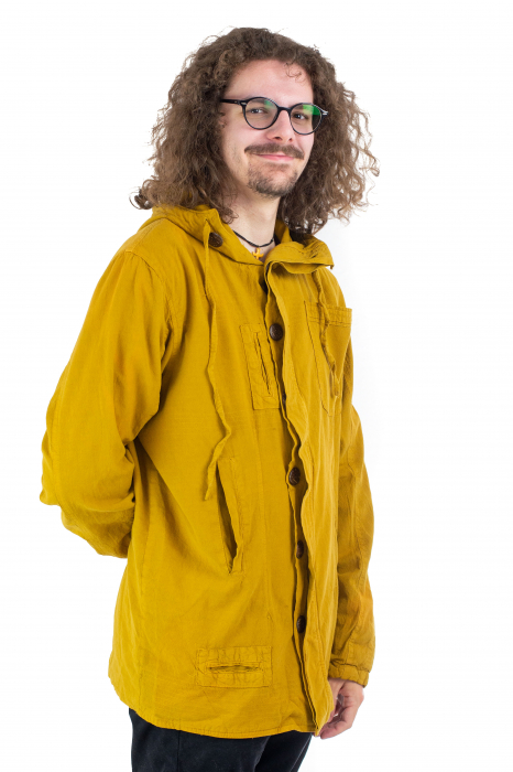 Jacheta barbateasca din bumbac - Mustar [2]
