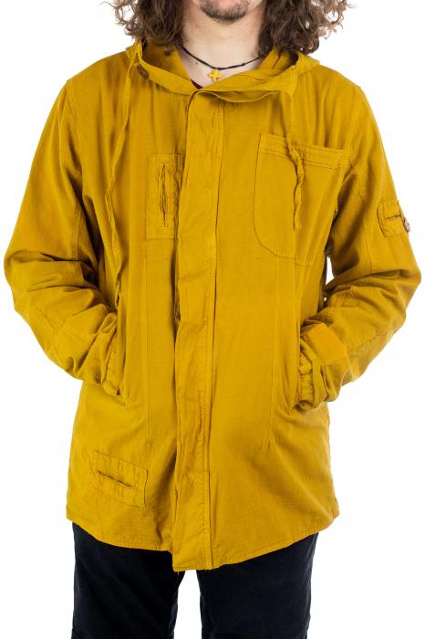 Jacheta barbateasca din bumbac - Mustar [0]