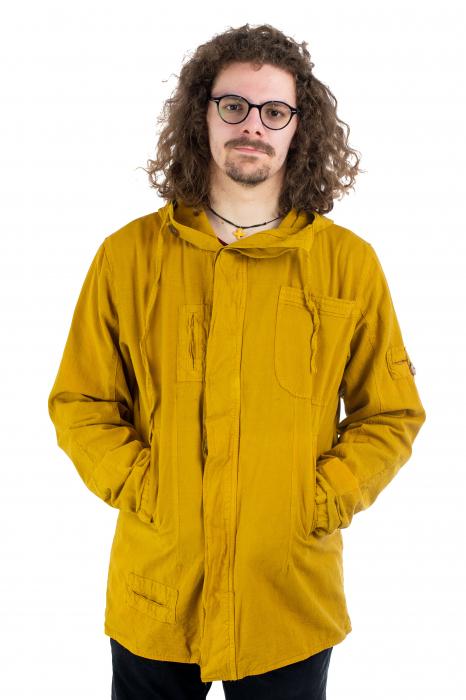 Jacheta barbateasca din bumbac - Mustar [1]