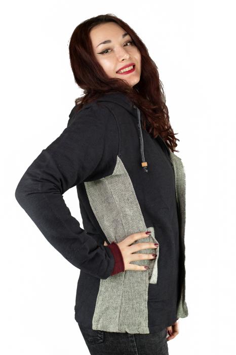 Jacheta din bumbac - Negru Gri [1]