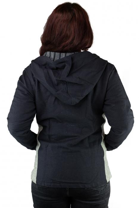 Jacheta din bumbac - Negru Gri [2]
