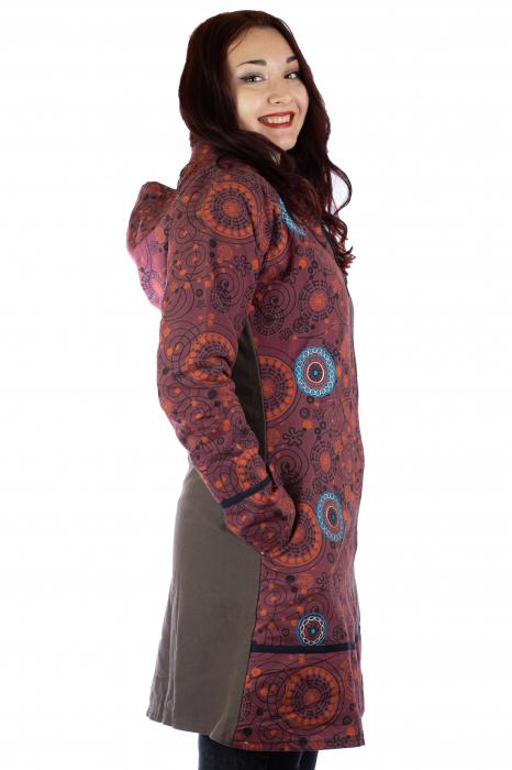 Jacheta de bumbac cu fermoar, print abstract – BORDO&MARO [2]